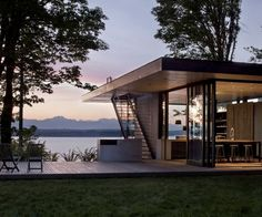 MW architects, Case Inlet retreat cabin. Simple and harmonious. #architecture