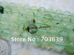 Nature 8mm prehnite loose beads for jewelry, prehnite jewelry gemstone