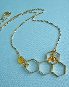 I'll Have A Bee Please, Bob! Honeycomb Necklace....Just fell in love with this site!!