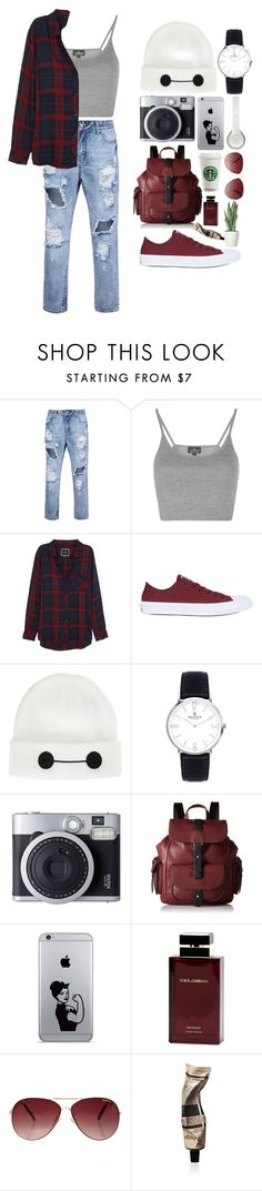 """ripped jeans"" by rputriwidyastri ❤ liked on Polyvore featuring Topshop, Rails, Converse, Disney, Kenneth Cole Reaction, Beats by Dr. Dre, Dolce & Gabbana Fragrance, MINKPINK, Aesop and rippedjeans"