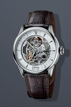 Oris 73476704051MB Watch Artelier Skeleton Mens 734-7670-4051-MB Silver Dial Stainless Steel Case Automatic Movement ** Be sure to check out this awesome product.