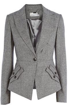 Karen Millen Texture Tailoring Jacket. From Castle. Love the dual pocket detail.
