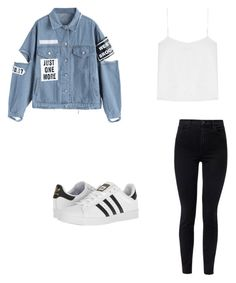 """Untitled #138"" by taukaila ❤ liked on Polyvore featuring J Brand, T By Alexander Wang and adidas"