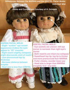 "Creative Beginnings 1991 Vinyl Doll Head Approximately 4 1//2/"" Tall"