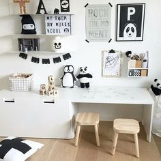 A Little Lovely Company™ ( White Kids Room, A Little Lovely Company, Cool Kids Rooms, Studio Apartment Decorating, Ikea Home, Toy Rooms, Kids Room Design, Kidsroom, Kid Spaces