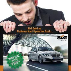 Sixt Gold ve Platinum Kart Üyeleri, Temmuz ayında sadece 199 TL ye BMW 520i kullanıyor  www.sixt.com.tr #sixt #sixtrentacar #sixtturkiye #kiralıkaraç #rentacar #bmw
