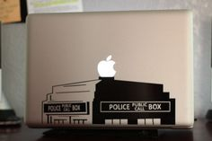 This is going on my next computer. British Police Box 13 Macbook Apple Laptop Decal by jamesdupree, $9.99