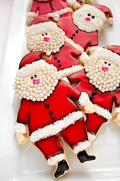 "Ho Ho Ho!  Santa Cookie Platter :-)  #Christmas #cookies {Have YOU downloaded your FREE Sweater-izer app yet? You can even ""Sweater-ize For A Cause"" Link to AppStore to learn more & download: https://itunes.apple.com/us/app/sweater-izer/id578251544?mt=8"