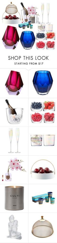 """Celebrate with passion for glass"" by didesi ❤ liked on Polyvore featuring interior, interiors, interior design, home, home decor, interior decorating, Moser, Amara, LSA International and Culti"
