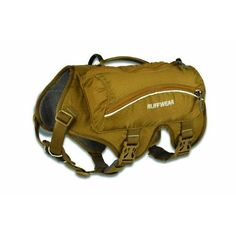 Ruffwear Singletrak Pack for Dogs, Dry River Brown, Large