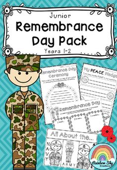 Junior Remembrance Day Pack - Australia. The pack includes many literacy, numeracy and creative thinking tasks that could be used during group work or as whole class activities. ~ Rainbow Sky Creations ~