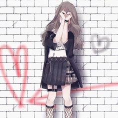 La imagen puede contener: una o varias personas Cool Anime Girl, Pretty Anime Girl, Beautiful Anime Girl, Kawaii Anime Girl, Anime Art Girl, Gothic Anime Girl, Anime Neko, Chica Anime Manga, Dark Anime