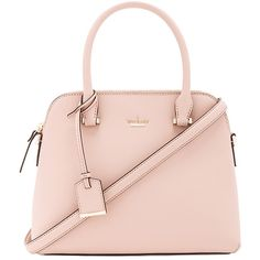 kate spade new york Maise Satchel (81.585 HUF) ❤ liked on Polyvore featuring bags, handbags, pink purse, satchel handbags, man bag, kate spade satchel and pink satchel handbags