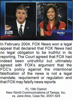 """I point this out to my friends & family who rely on Fox """"News"""". They don't care."""