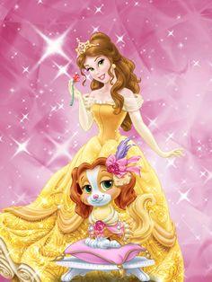 Minha Princesa preferida Com seu pet real Que é meu primeiro preferido Do palece pet
