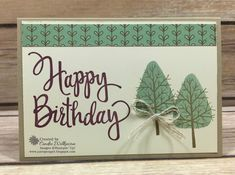 Just Sponge It: Totally Trees Note Card