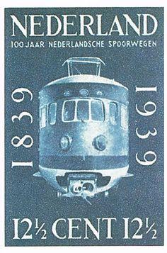 Een spoorwegschilderijenkabinet. Zestien prentbriefkaarten aangeboden door de Nederlandse Spoorwegen. Collectoritem