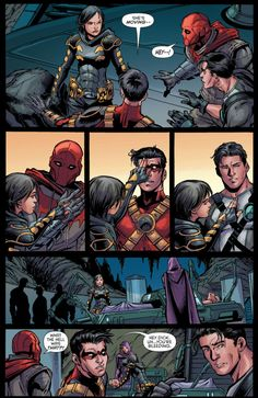 cassandra cain pegs the robins. Jason todd uses his fists, Tim uses his brain, Dick uses his heart