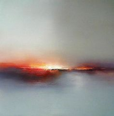 Elaine Jones - Red Glow - reminds me of the sun setting like fire over the western mountains in Calgary