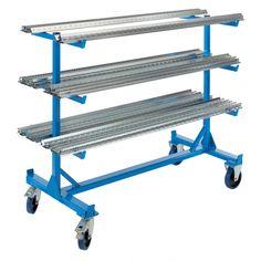 Buy Double Sided Cantilever Trolley from BiGDUG. Workshop Bench, Workshop Storage, Diy Garage Storage, Tool Storage, Tool Steel, Steel Metal, Cardboard Furniture, Kid Furniture, Furniture Design