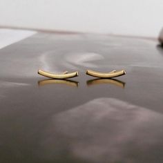 Curve studs (gold plated silver) SOLD OUT