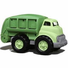 "Green Toys Recycling Truck. Sort bottles, cans, and paper or just have a blast! Your eco-conscious little one will learn recycling basics while playing with this super cool recycling truck that has a movable recycling bed and open/shut rear door. The awesome eco-design has no metal axles. Dimensions: 12""L x 6 ¼""W x 7""H. For ages 1 and up.  *Please join us (Albee Baby) on Facebook: http://on.fb.me/1qElS1J  Instagram: http://instagram.com/albeebabydotcom and Twitter…"