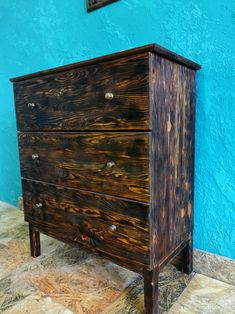 Rustic chest of drawers with metal knobs/Wooden chest of drawers/Chest of Drawer/hallway bedroom wood sewing box/wooden commode/roll box Box Bedroom, Buy Tile, Old Sofa, Stone Molds, Wooden Chest, Sewing Box, Work Lights, Diy Garden Decor, Chest Of Drawers
