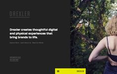 A new ajax/wordpress site for Drexler, a full service creative shop based in Baltimore, MD
