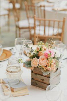 composition florale mariage de style champêtre chic