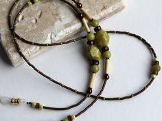 SALE 10% OFF Eyeglass Necklace, Green Jasper Eyeglass Chain, Eyeglass Chain, Women Accessories, Gifts for Women