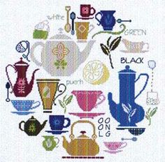 Tea World (cross stitch) by Alessandra Adelaide