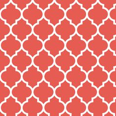 moroccan quatrefoil lattice in coral fabric by spacefem on Spoonflower - custom fabric for the ottoman