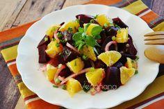 Se você gosta de beterrabas vai adorar esta saladinha colorida e saborosa. Uma combinação agridoce com um lindo visual que vai enfeitar a s...