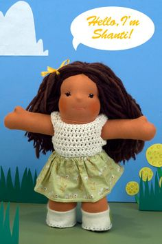 """I want to win one of these dolls!!!   Meet Shanti, 16"""" Waldorf Doll. $200.00, via Etsy."""