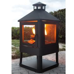 "Crosley Outdoor Villa Fireplace (Black) (45.5""H x 21.75""W x 21.75""D) Crosley Furniture,http://www.amazon.com/dp/B005Q65EHM/ref=cm_sw_r_pi_dp_DsLftb0YQ2STN1HK"