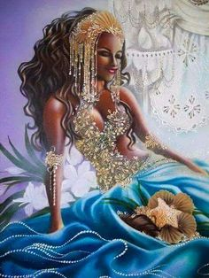 African art paintings - Rituel d'amour et bougies d'agrumes )) Yabyum's pagan life – African art paintings Art Black Love, Black Girl Art, Black Girl Magic, Art Girl, Black Is Beautiful, African Mythology, African Goddess, Oshun Goddess, Goddess Art