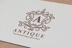 Antique Crest Logo by OrangeMango on Creative Market