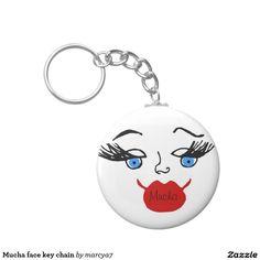 Mucha face key chain