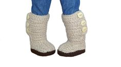 Mini Sweater Boots Crochet Pattern to fit 18 inch dolls like American Girl, Our Generation, Springfield Dolls, and My Life As Dolls.