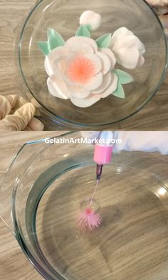 Gelatin Art Desserts are made by injecting a creamy filling into fruit-flavored jelly. Watch this free online class to learn how to make them. Gelatin Recipes, Jello Recipes, 3d Jelly Cake, Jelly Desserts, Jelly Flower, Jello Cake, Creative Food Art, Food Carving, Cake Decorating Videos