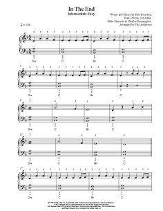 In The End by Linkin Park Piano Sheet Music | Intermediate Level
