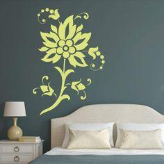 Szablon malarski - Kwiat | Paint template - Flower | 24,99 PLN #paint #template #flower  #home_decor #interior_decor #design #wall_decor #szablon #szablon_malarski #kwiat #dekoracja_ściany #dekoracja_wnętrza