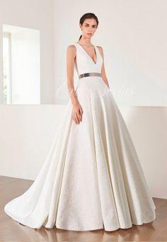 Vestido de novia Modelo 2662. Patricia Avendaño colección 2017 en Eva Novias Madrid