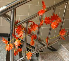 2 Meters Artificial Red Autumn Maple Leaf Vine Wedding Home Decor Garland