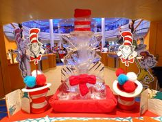 Love the decorations at Carnival's Seuss at Sea Character Breakfast