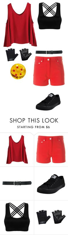 """My Dragon Ball Z Fighter Outfit"" by lucy-wolf ❤ liked on Polyvore featuring WithChic, Moschino, M&Co and Casall"