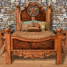 Southwest Bedroom, Star Bedroom, King Size Bed Frame, Texas Star, Headboard And Footboard, Rustic Feel, Furniture Collection, Bedroom Furniture, Clock