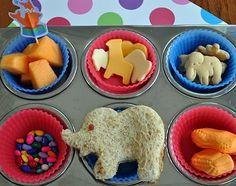 Muffin Tin Monday :) What a cute idea! Circus Themed!