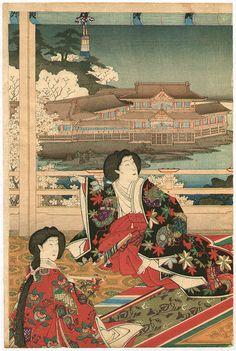 豊原国周: Empress and Moon - Artelino