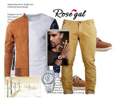"""""""Rosegal"""" by zijadaahmetovic ❤ liked on Polyvore featuring Sperry, men's fashion and menswear"""